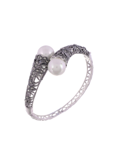 Marcasite Pearl Bangle
