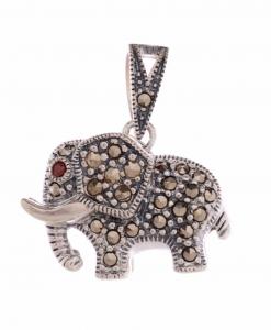 Marcasite Elephant Pendant