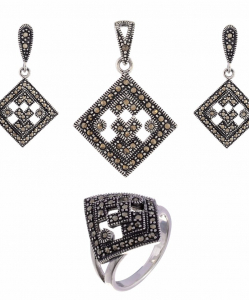 Exclusive Marcasite Pendant Set