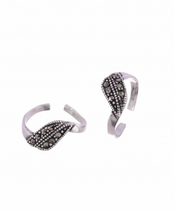 Marcasite Beautiful Leaf toering