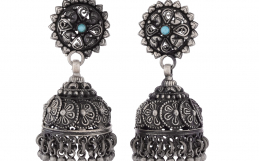 Antique Oxidized Earrings | Oxidized Jhumkas