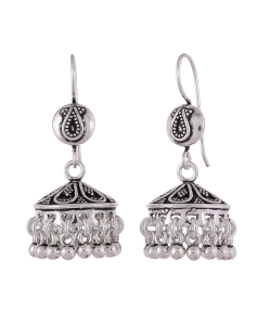 Antique Oxidised Silver Beautiful Jhumkis