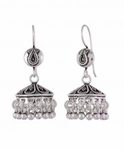 Antique Oxidised Silver Beautiful Jhumkis