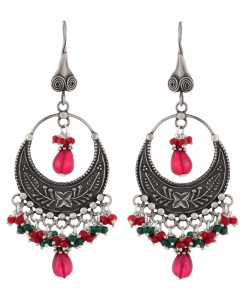 Antique Colorful Oxidised Earrings