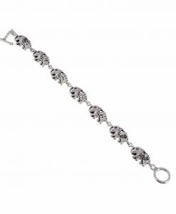 Oxidised Silver Elephant Bracelet