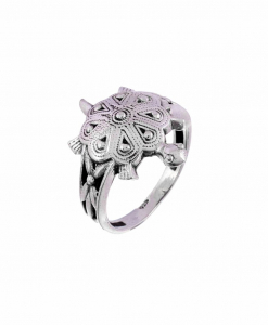 Oxidised Silver Tortoise Ring
