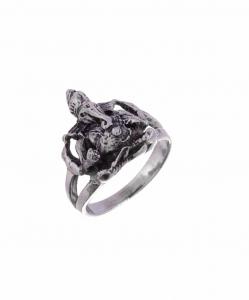 Oxidised Silver Ganesha Ring