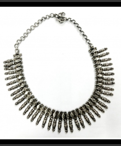 Oxidised Silver Beautiful Beads Exclusive Neck Piece
