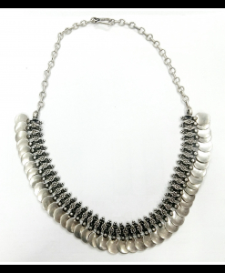 Oxidised Silver Beautiful Coin Exclusive Neck Piece
