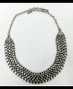 Oxidised Silver Beautiful Multiple Shapes Exclusive Neck Piece
