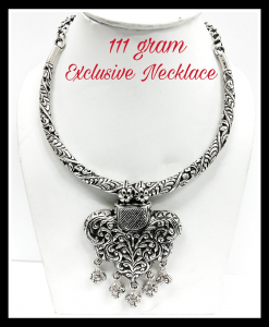 Oxidised Silver Beautiful Heavy Exclusive Neck Piece