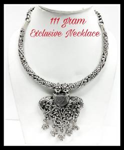 Oxidised Silver Beautiful Heavy Exclusive Neck Piece