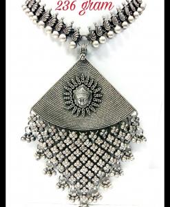 Oxidised Silver Beautiful Ethnic Exclusive Neck Piece
