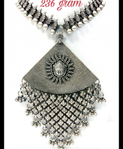 Oxidised Silver Beautiful Ethnic Exclusive Neck Piece