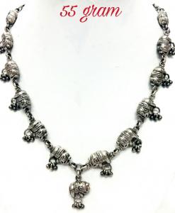 Oxidised Silver Beautiful Elephant Exclusive Neck Piece