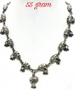 Oxidised Silver Beautiful Elephant Exclusive Neck Piece